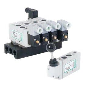 ASCO Numatics L23BB452B000061 L2 Double Solenoid Pilot, 1/4'' Inline, 2 Position, 4-Way (5/2), Din Plug-In, NPTF Pressure Ports, 24VDC
