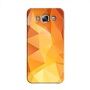 Cover It Up - Orange White Pixel Triangles Samsung Galaxy E5 Hard Case