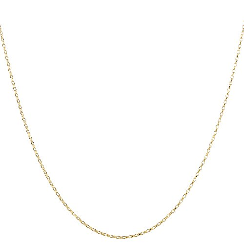 2mm thick 14k gold plated on solid sterling silver 925 Italian BELCHER rolo cable link marine chain necklace bracelet anklet - 15, 20, 25, 30, 35, 40, 45, 50, 55, (Marine Links 14k Gold Chain)