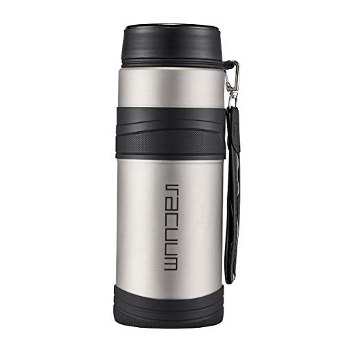 Delandun Water Bottle-Wide Mouth Vacuum Insulated 18/8 Stainless Steel Powder Coated Travel Mug