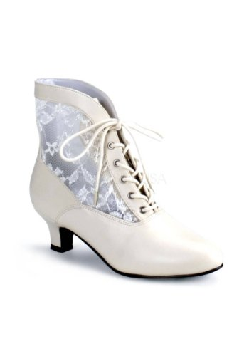 Funtasma Women's Dame-05/IV Ankle Boot,Ivory Polyurethane,8 M