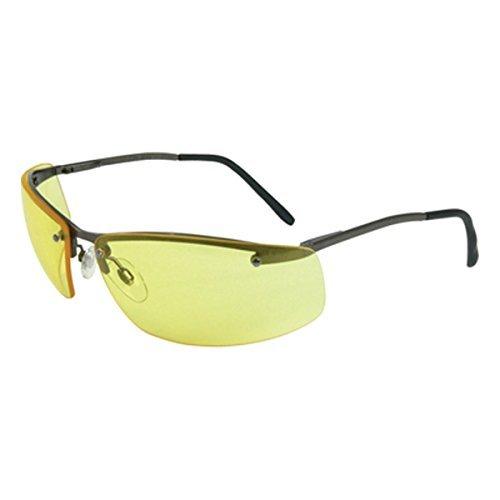 Howard Leight by Honeywell Uvex Slate Sharp-Shooter Safety Eyewear, Clear Lens (R-01771) (Frames Slate Safety Glasses)
