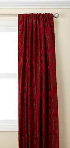 Damask Drapes - HPD Half Price Drapes JQCH-201268-84 Astoria Faux Silk Jacquard Curtain, 50 X 84, Red/Bronze