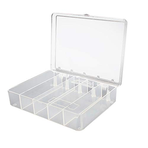 - Quaanti Waterproof 5 Compartments Eco-Friendly Plastic Fishing Tackle Box Portable Fishing Lure Hook Rig Bait Storage Case Pesca Tackle (Clear)