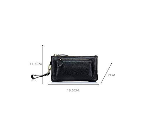 Handbag Shopping Red Frizioni Donne In Doppio Cerniera Pelle rxaqPrYT6w