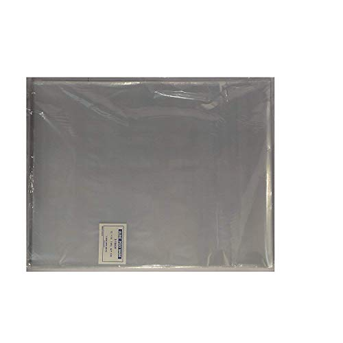100-12 x 15 Poly Clear Plastic T-Shirt/Apparel Bags 1 Mil 2 Back Flap Lock (3 Pack)