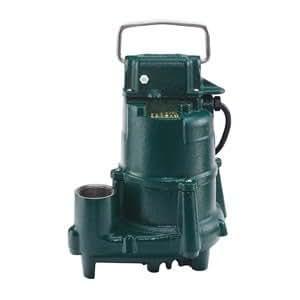 Sump Pump, 1/2 HP, 1-1/2In NPT, 23ft Max, CI