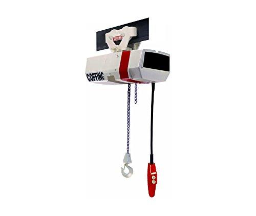Coffing EC Electric Chain Hoist, Capacity 3 Ton, Lift 10 ft, 16 fpm, Plain Push Trolley, Part No - Chain Coffing Hoist Electric