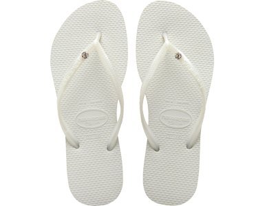 59f15c658391 Image Unavailable. Image not available for. Colour  Havaianas Womens Slim  Crystal Glamour SW White Flip Flops Sandals