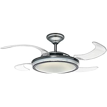 Fanimation FP825OB 43-Inch Air Shadow Traditional 5-Blade Ceiling ...:Hunter 59085 Fanaway Retractable Blade 48