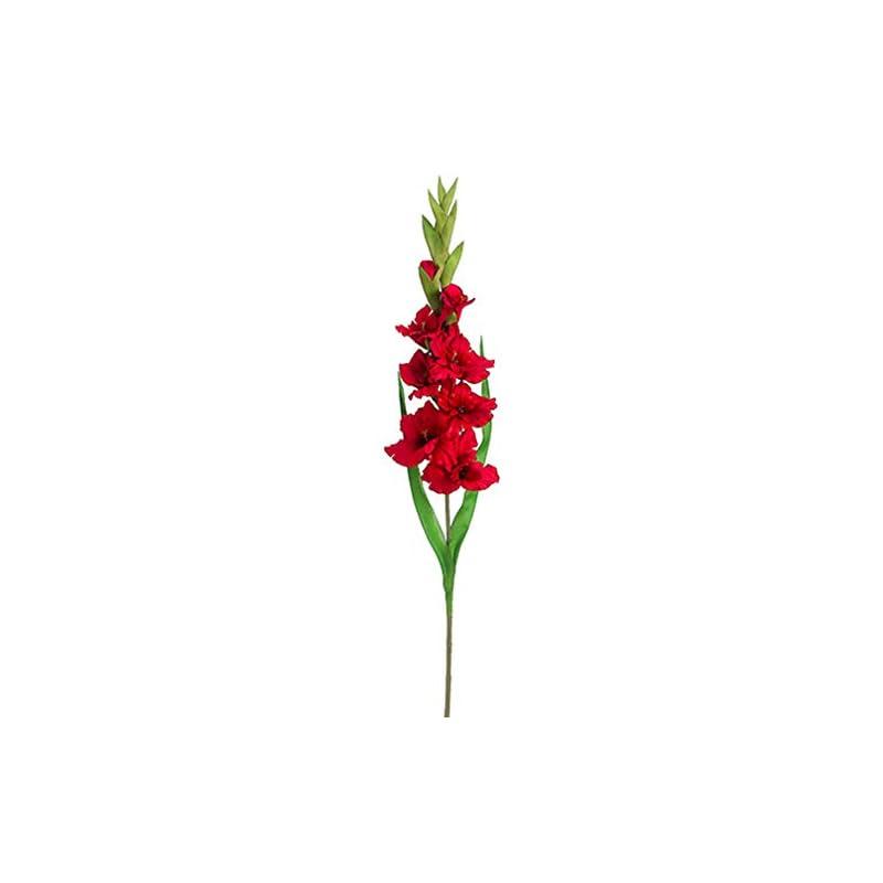 """silk flower arrangements 36.5"""" silk gladiolus flower spray -red (pack of 12)"""