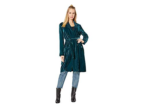 cupcakes and cashmere Women's Albany Velvet Duster, Forest Green, Small