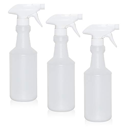 ChefLand Empty Professional Spray Bottles - New Improved 100% Leak Proof Technology, 16 Oz - Durable Trigger Sprayer with Mist & Stream & Off Modes - Pack of 3 -