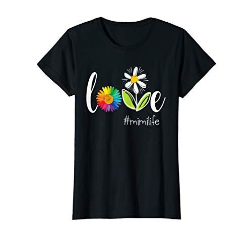 Womens Love MiMi Life - Flower T-Shirt