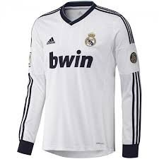 Amazon.com : Adidas Real Madrid Home Jersey Long Sleeve 2012-13 Size Medium W41762 CAMISETA REAL MADRID H JSY ADIDAS W41762 : Soccer Equipment : Sports & ...