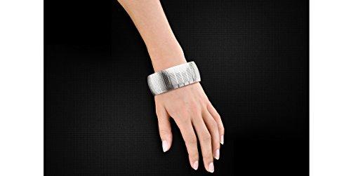 Canyon bijoux Bracelet articulé en argent 925 passivé, 37.5g, Ø65mm