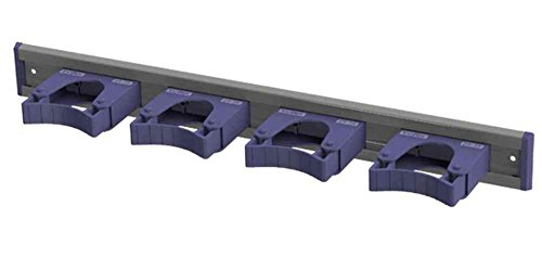 Toolflex Aluminum Rail 50cm (20 inch) with 4 Mounted Tool Holders Purple 5-0040-9