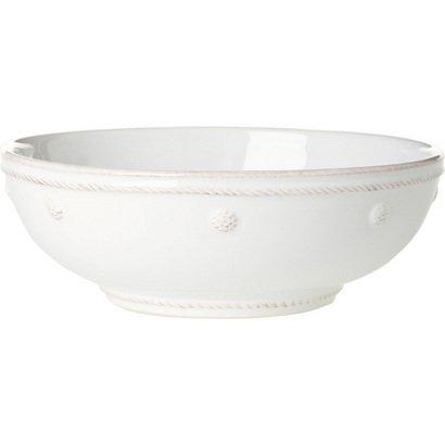 Juliska Porcelain Salad Bowls, Pasta Bowl Set, Berry and Thread Coupe Bowl Whitewash