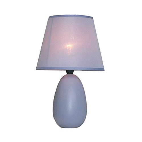 Simple Designs Small Purple Oval Ceramic Table Lamp Purple Contemporary Table Lamp