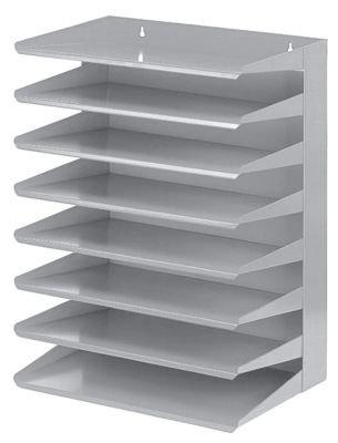 Bürobedarf ablagesysteme  Sortierablage - 8 Fächer - Höhe 470 mm, VE 1 Stk - Ablagekorb ...