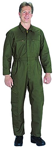 Tall//Size 54 TOPPS SAFETY CO43-1872-Tall//54 CO43-1872 Poly//Cotton Tactical Wear Unlined Coverall Olive