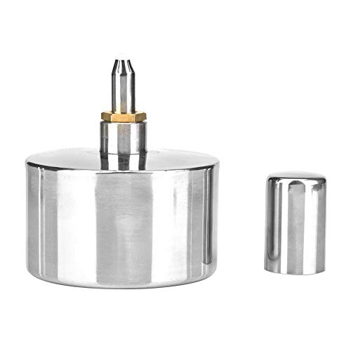 400ml Stainless Steel Alcohol Lamp Thickened Laboratory Chemistry Alcohol Burner Dental Lad Lamp with Screw and ()