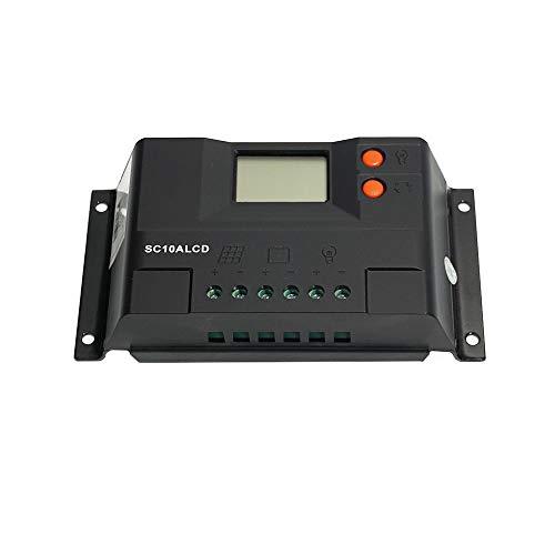 WATTSTUNDE Solar Laderegler 20A LR20ALCD mit Dual USB-Anschluss und LCD-Anzeige für 12V / 24V
