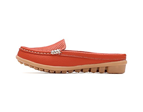 Beach Slippers Sandals Verocara Womens Womens Leather Cowhide Orange Verocara Leather 7Rff0xqZ