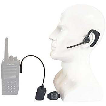 ContalkeTech Walkie Talkie Wireless Bluetooth Headset for Motorola HYT Relm Tekk Two Way Radio M1 Connector