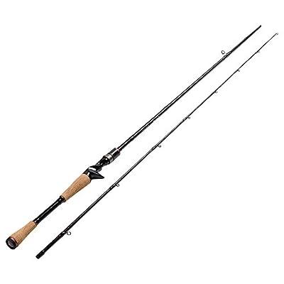 Fiblink Graphite Baitcasting Rod Portable Casting Rod 2-Piece Baitcaster by Fiblink
