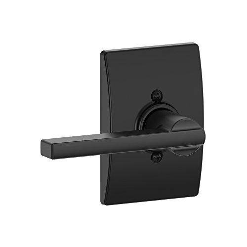 Schlage Lock Company Latitude Lever with Century Trim Non-Turning Lock, Matte Black (F170 LAT 622 CEN)