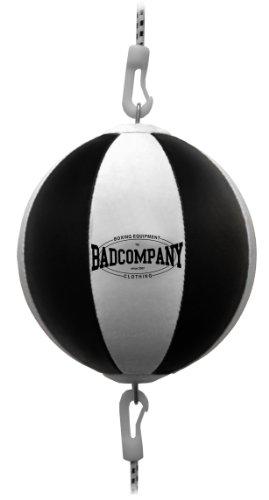 Profi PU Doppelendball schwarz / weiß - Durchmesser ca. 38cm inkl. elastischen Spanngurten