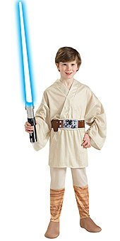 Star Wars Classic Luke Skywalker Child Costume Size: Medium (US sizes 8-10, For 5-7 years) -