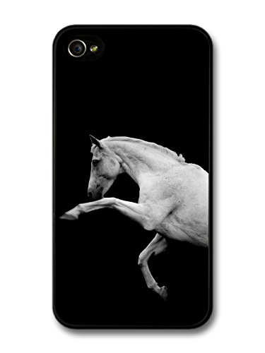 White Horse Jumping coque pour iPhone 4 4S