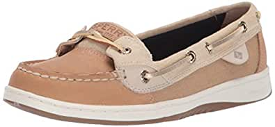 Sperry Womens Angelfish Sparkle Suede Angelfish Brown Size: 6