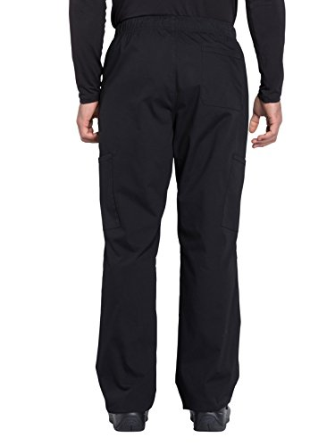 Cherokee Professionals Workwear Men's Tapered Leg Zip Fly Drawstring Scrub Pant X-Large Tall Black by Cherokee (Image #2)