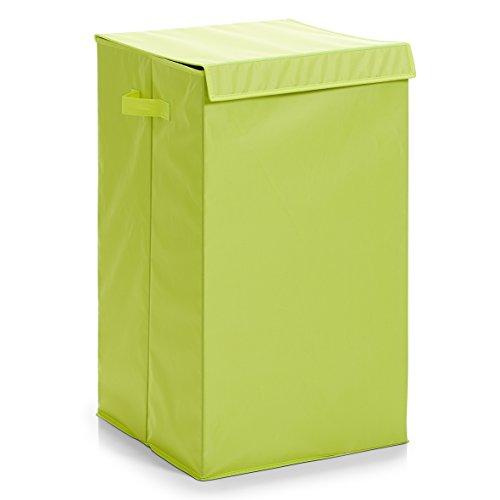 Zeller 13260 Wäschesammler, faltbar, Polyester, 35 x 35 x 60 cm, grün