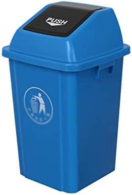 滑らかな表面 パークリサイクルビン、ストリートスクールごみコンテナパティオ、ヤード用プラスチック肥厚ゴミ箱耐久性に優れたデザイン リサイクル可能なデザイン (Color : Blue, Size : 41.5*41.5*69.5CM)