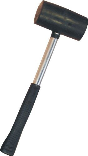 RUBBER MALLET WITH A TUBULAR STEEL SHAFT