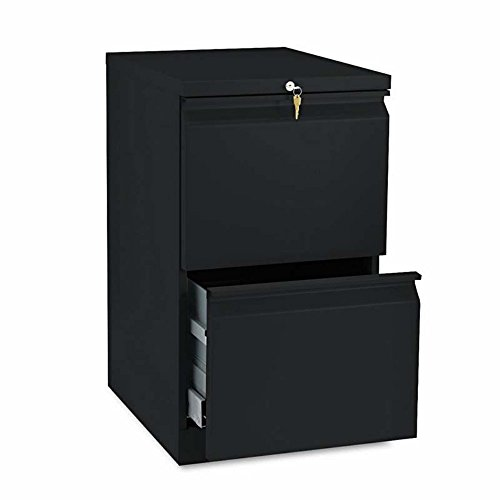 Hon Mobile Pedestal - HON Products - HON - Brigade Radius Pull Mobile Pedestal File, Two File Drawers, 19-7/8amp;quot; Deep, Black - Sold As 1 Each - Heavy-duty pedestals with radius pulls to complement BrigadeTM 800 Series Lateral Files. - High sides for front-to-back letter size filing. - Ball bearing suspensions on file drawer (90% extension) and box drawer (75%) extension. - HON amp;quot;One Keyamp;quot; interchangeable lock core. - Counterweight inhibits tipping when opening more than one drawer.
