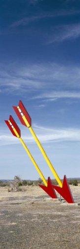 (Posterazzi PPI127340S Twin arrows in the field Route 66 Arizona USA Poster Print 18 x 6)