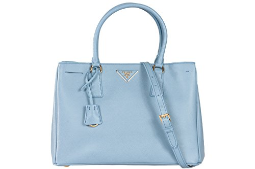 Prada Authentic BN1874 Astrale Blue Handbag Leather Saffiano LUX Bag