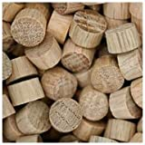 WIDGETCO 3/8'' Oak Wood Plugs, End Grain
