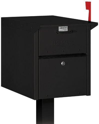 Salsbury Industries 4350BLK Mail Chest, (Access Rear Doors)
