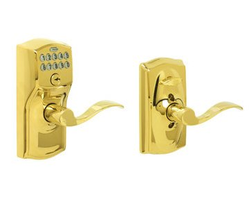 Schlage FE595PLY716FLA Plymouth Keypad with Flair Lever, Aged Bronze by Schlage Lock Company