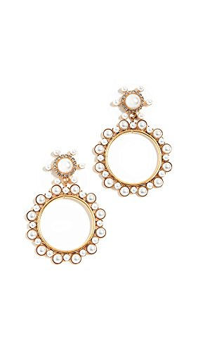 - Elizabeth Cole Women's Chantal Earrings, Pearl, One Size