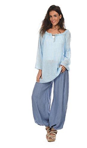 100 % LIN Women's Trousers PRUNE 42 (42 Prune)