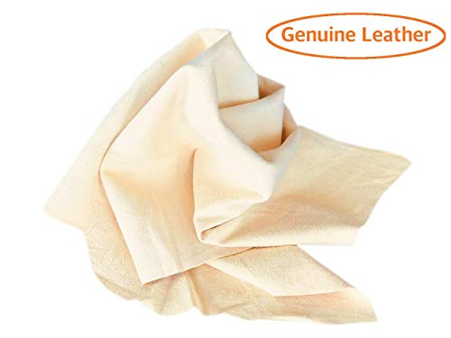 (Sheepskin Elite Chamois Drying Cloth Car Drying Towel Real Leather Super Absorbent Fast Drying Natural Chamois Car Wash Cloth Accessory (15x25In))
