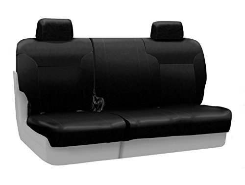 - Coverking Custom Fit Front 60/40 Bench Seat Cover for Select Toyota Pickup Models - Genuine Leather (Black)