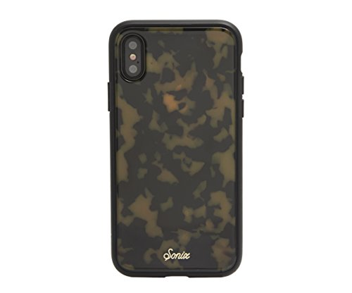iPhone Xs, iPhone X, Sonix Brown Tort (Tortoiseshell) Cell Phone Case [Military Drop Test Certified] Protective Luxe Tortoise Shell Series for Apple iPhone X, iPhone Xs